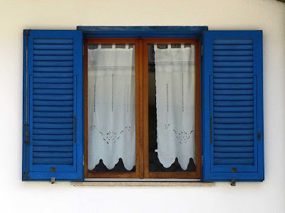 Blue shutters window, Livorno