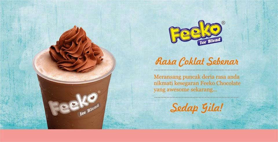 Produk premium rasa coklat sebenar ice blended di pasar malam