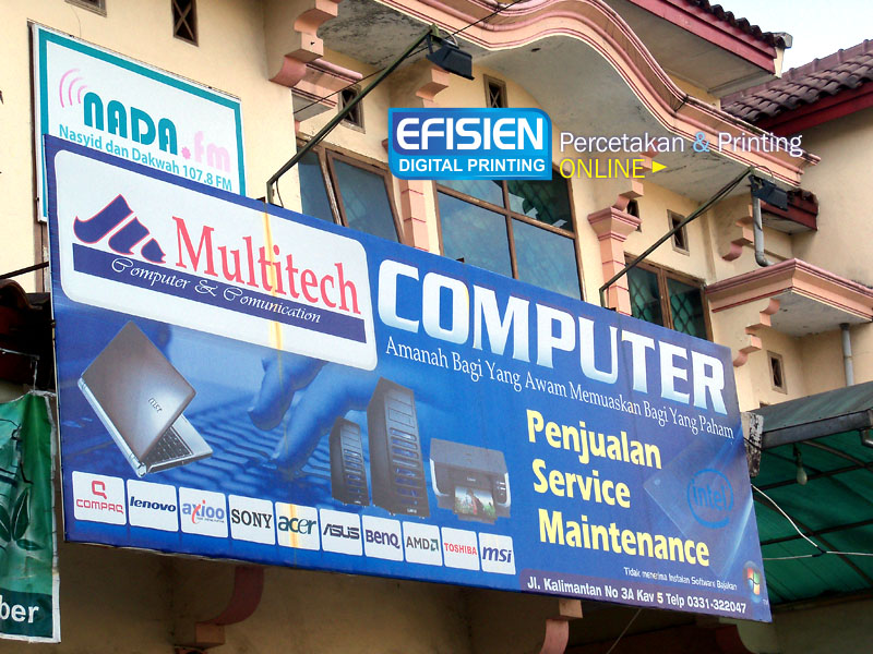 Papan Nama Multitech Jember