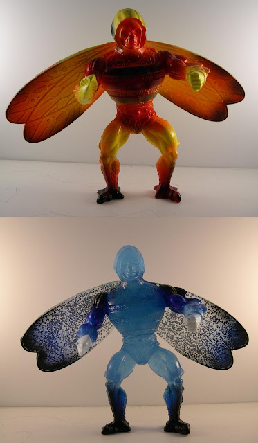 "Off ""Rejects of Eternia"" Bootleg Masters of the Universe Action Figure by Giant Japanese Monster, Bad! - Fire & Ice Colorways"