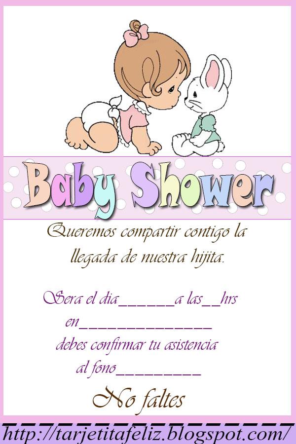 9f38fbab800f0 Invitaciones Para Baby Shower Niña Personalizadas Gratis - Baby ...