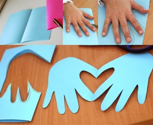 Cartão Molde Mão