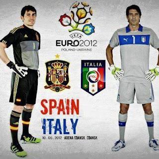 Spain Vs Italy live final euro 2012