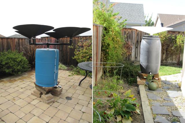 Acessório ajuda a captar água da chuva