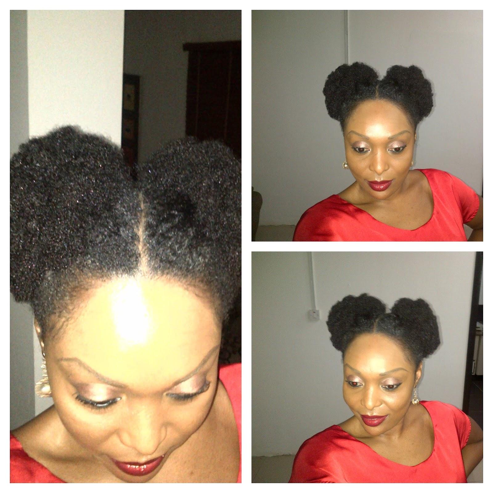 Rocking some Afro Puffs! - KLs Naturals