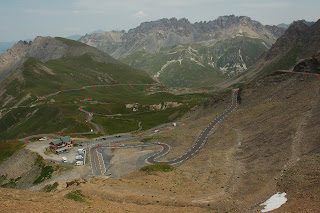 Looking down from the summit of the Col Du Galibier