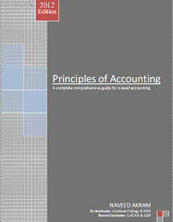 O Level Accounting Notes By Sir Naveed Akram