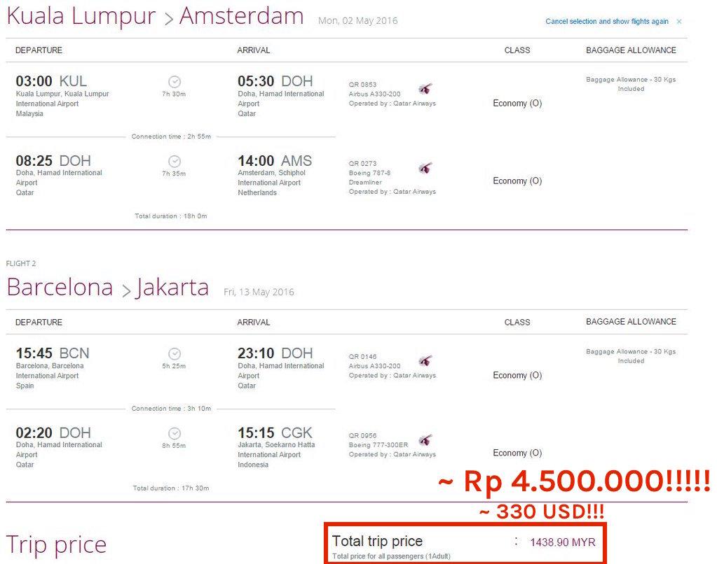 tiket pesawat murah promo qatar airways ke eropa