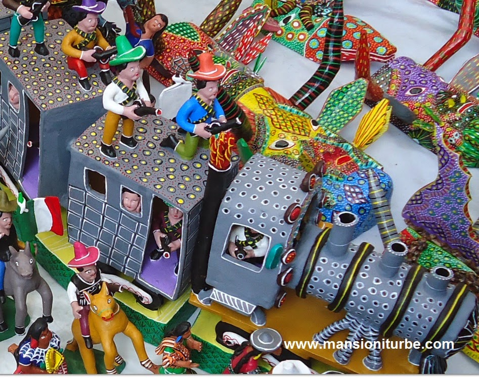 Artisan Toys from all over Michoacan in Pátzcuaro for the Artisan Fair of Day of the Dead