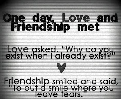 Friendship Love Quotes Fascinating One Day Love Met Friendship Love Quotes And Covers