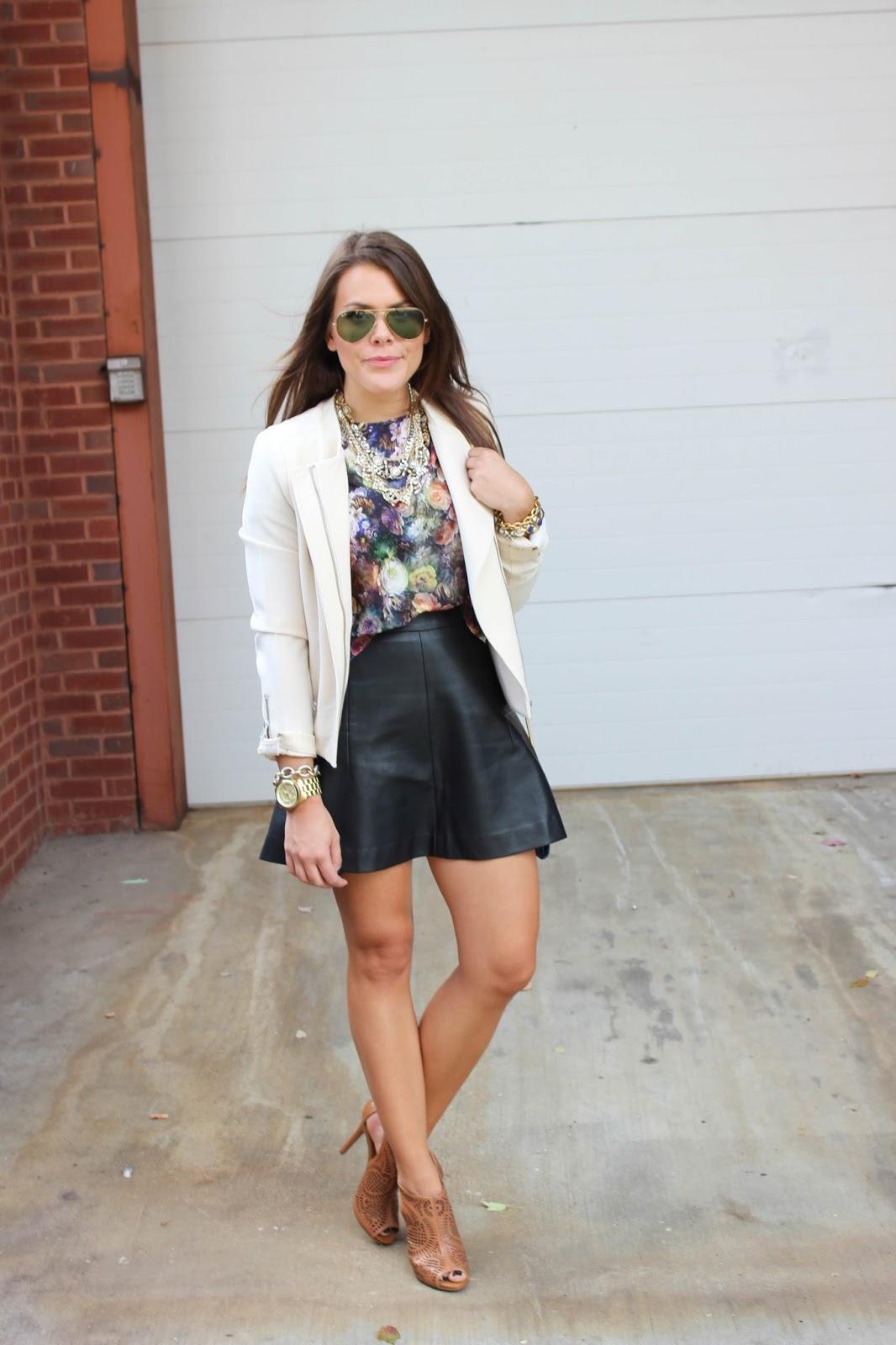 Tinley Road Audrey Vegan Leather Skirt