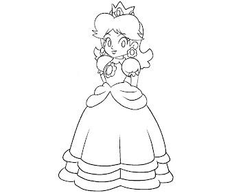 #4 Princess Daisy Coloring Page