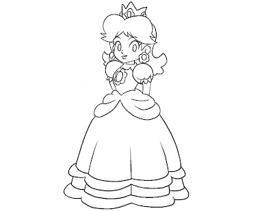 #4 Princess Daisy Coloring Page