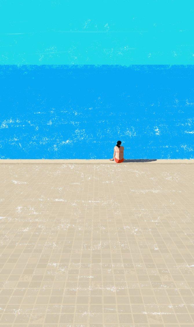 © Raphaëlle Martin | Canicule | Ilustración | Illustration