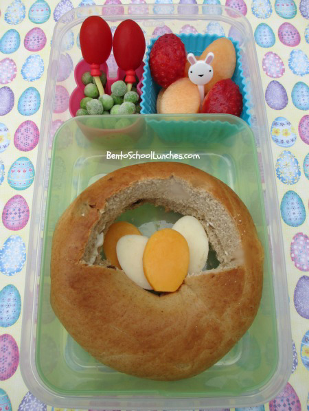 Easter basket bento school lunch