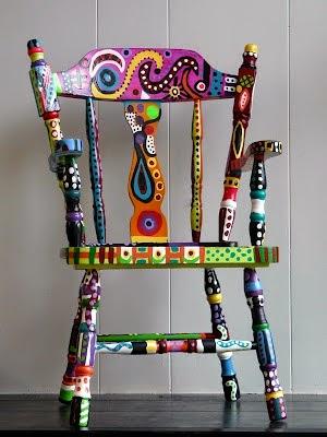 kolorowe krzesło