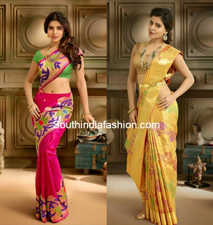 samantha in south india shopping mall ad
