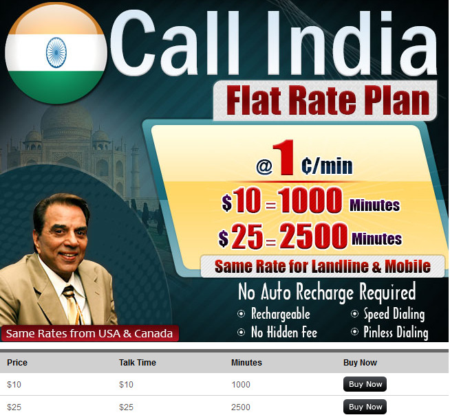 our current calling rates to india from usa and canada - India Calling Card From Usa