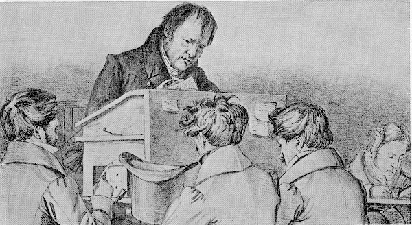 Hegel lecturing in Berlin