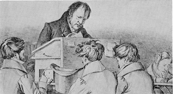 Hegel lecturing in Berlin