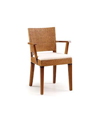Muebles restaurantes orientales for Sillas con brazos tapizadas