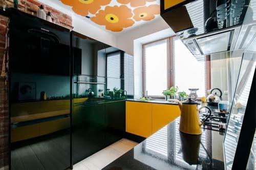 ... cucina nera e pavimenti a cementine forme del. Martino design