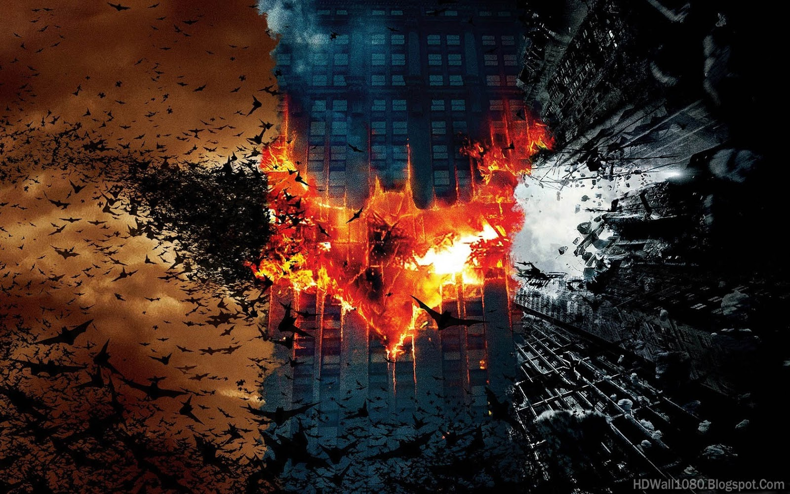 Batman Trilogy Fire Wallpaper HD