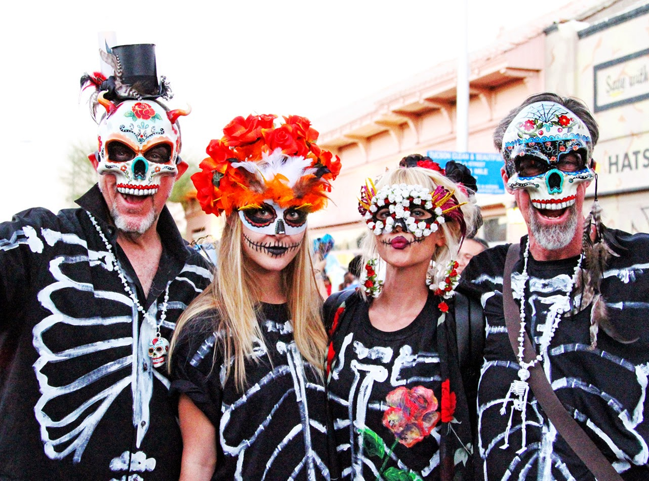 #allsoulsprocession #2014 #tucson #skulls #makeup #masks #diy #dayofthedead