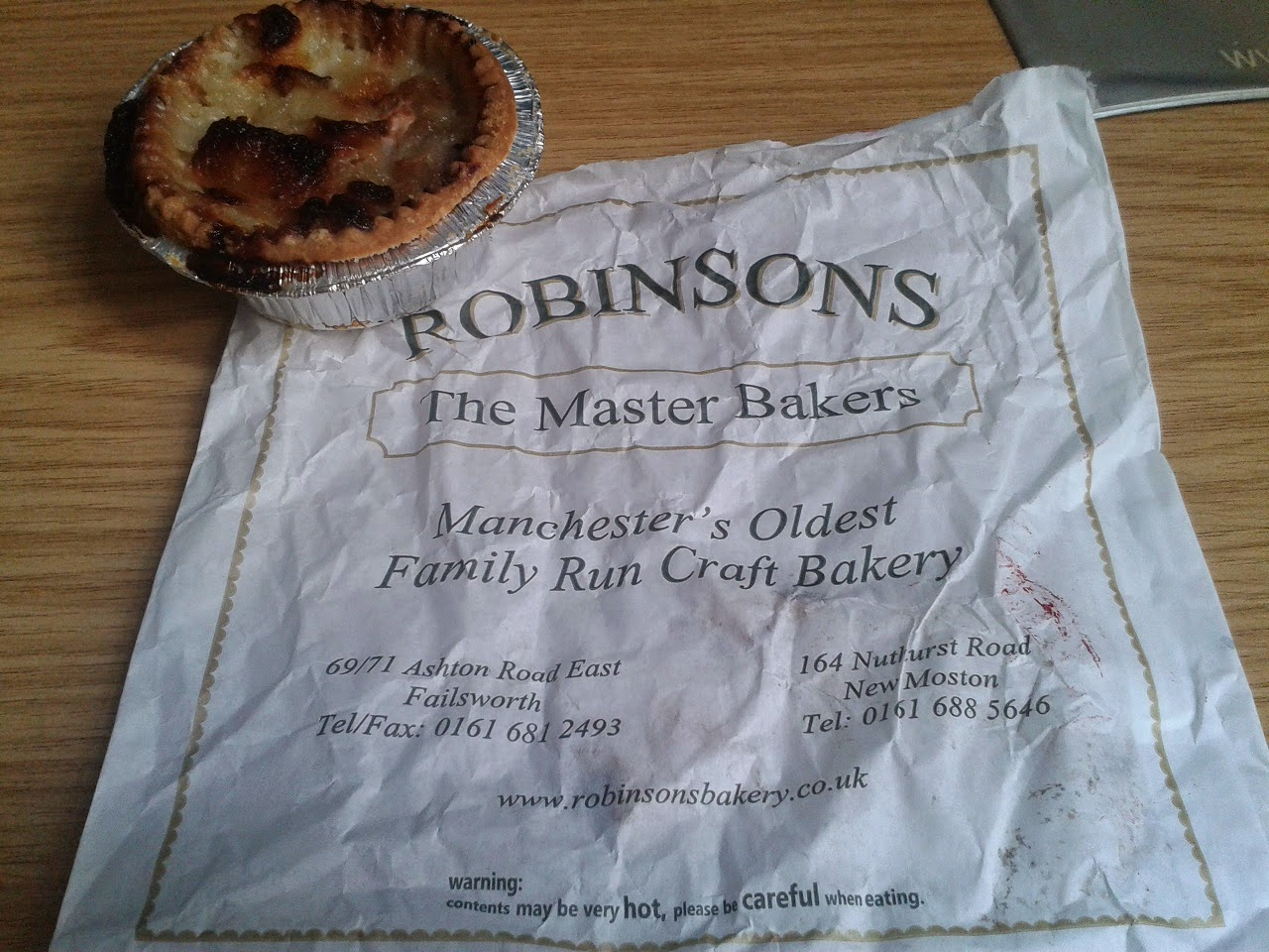 Robinsons Bakery Pie Review