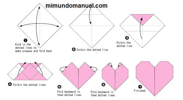 como hacer un corazon en origami y fieltro mimundomanual On como hacer un corazon de origami