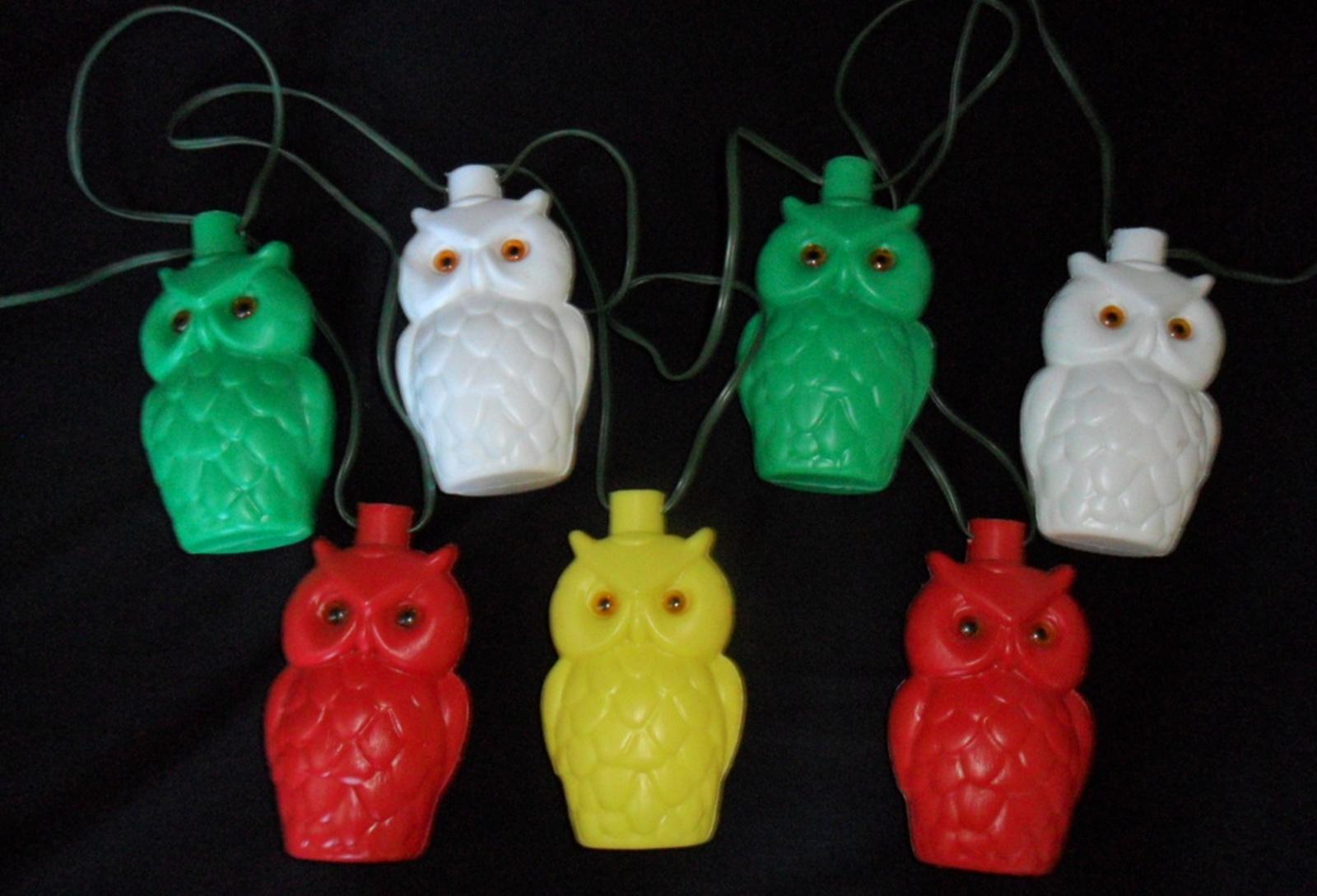 Superbe Owl Patio Lights Vintage Owl Patio Lights Mold Retro