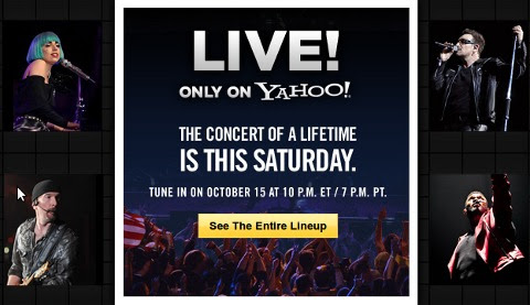 Koncert uživo, sutra na Yahoo!