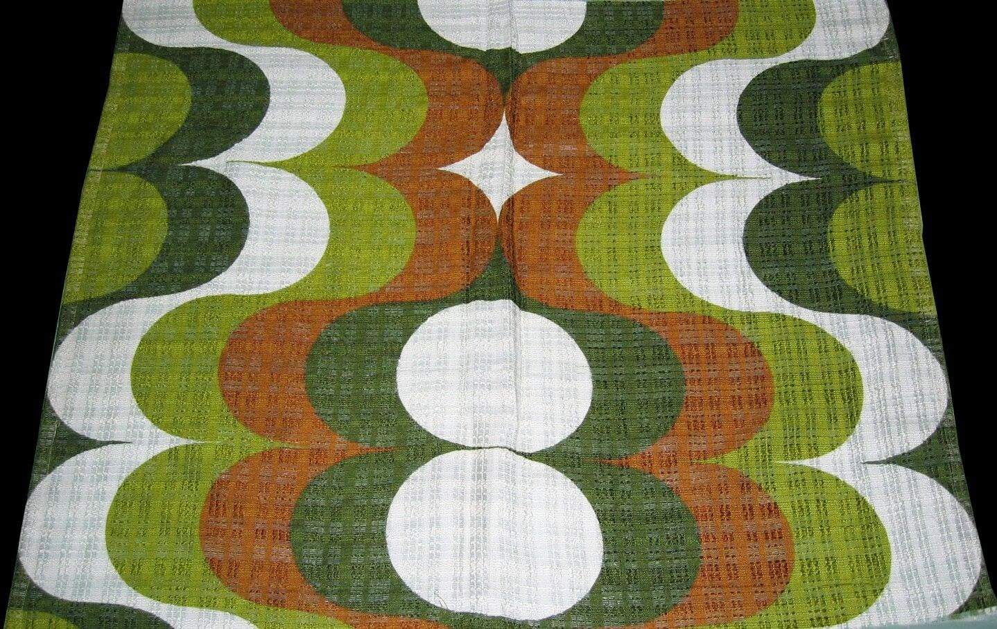 Scandinavian Vintage 60s-70s Mid Century Retro Fabric Geometric Curtain