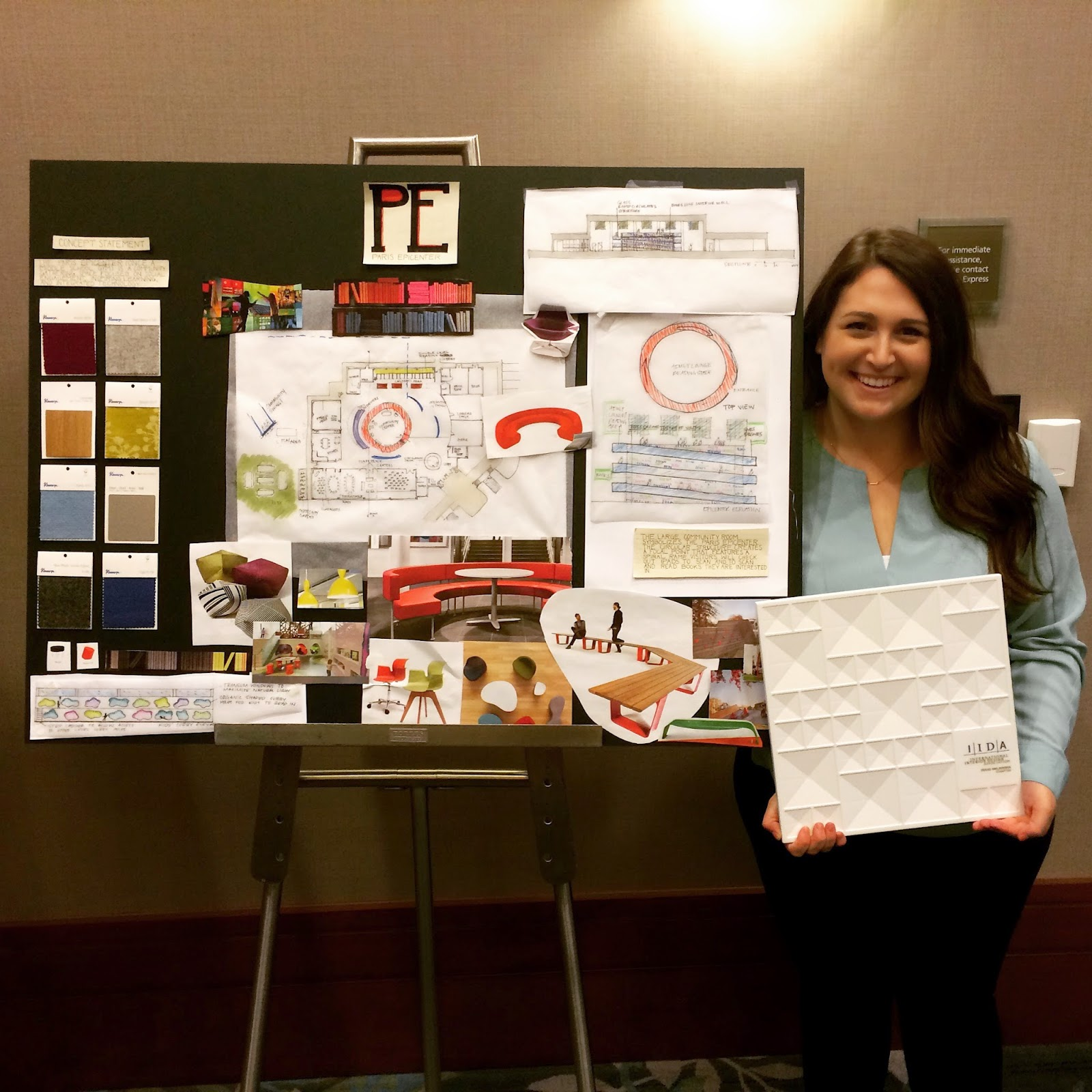 Congratulations on UNT Interior Design Senior Zan Farrow for being part of the 1st place Charrette team at IIDA Student Conference!