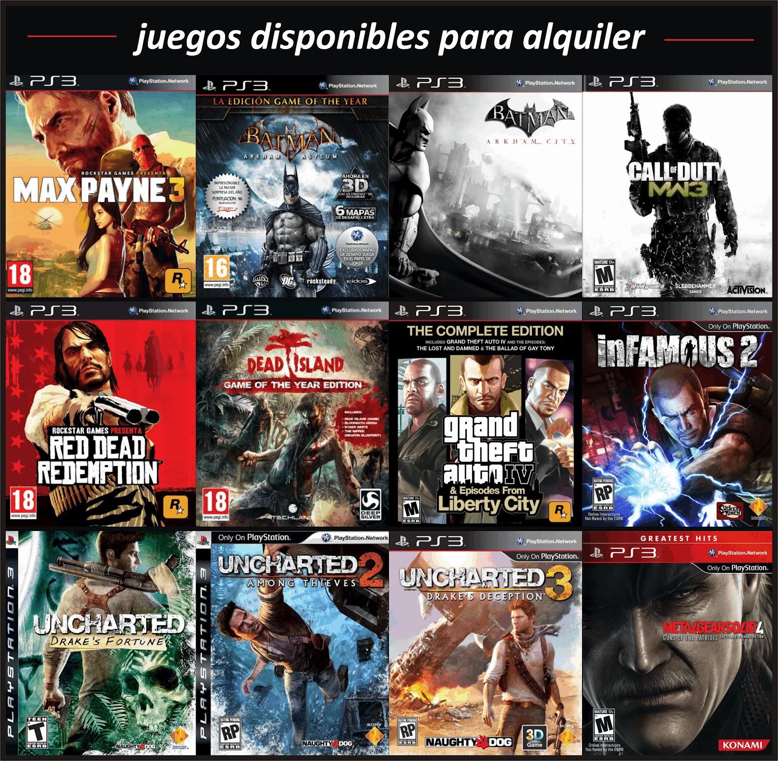 Cinema Games: ALQUILER PS3