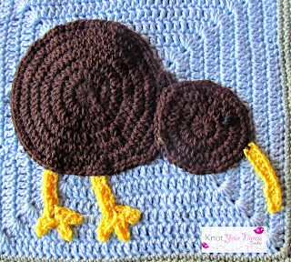 Crochet Applique Kiwi