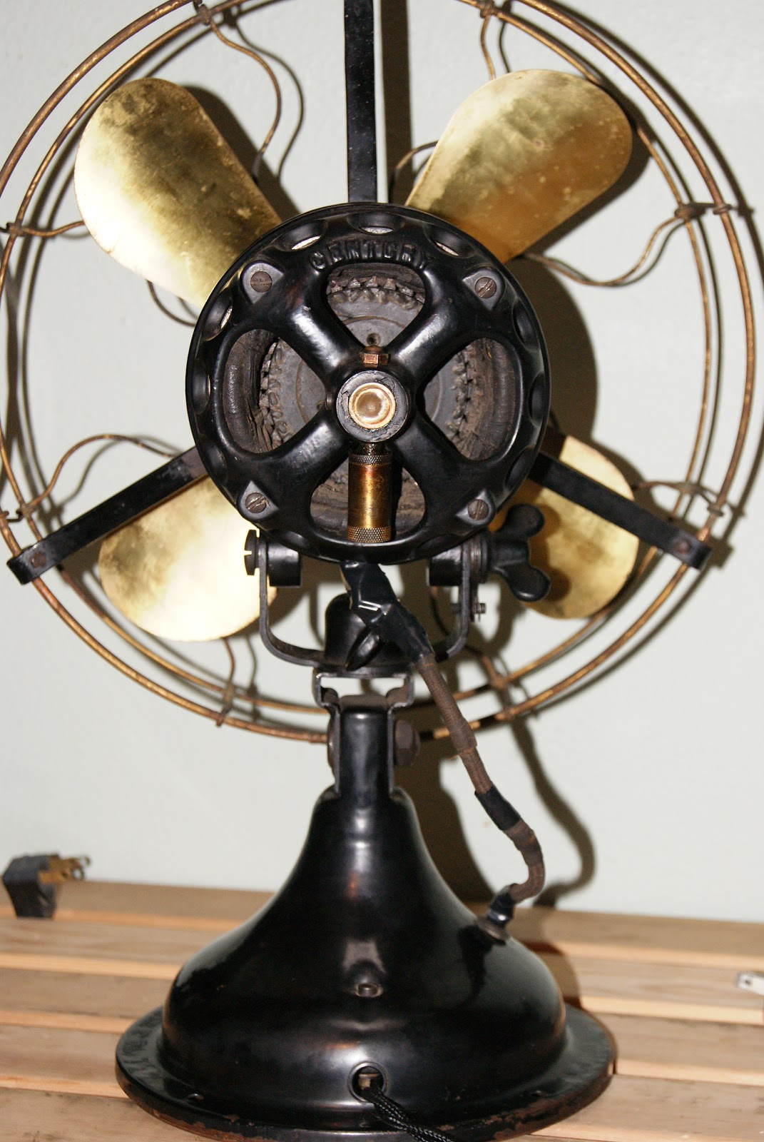 Brass and iron an antique fan collecting blog october 2011 for Century motor date code