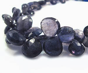 Natural Iolite Gemstone Beads