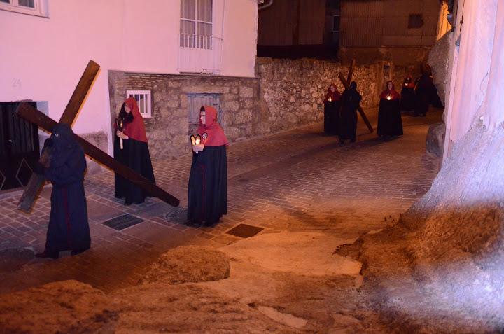 parte de la procesión del Viacrucvis de La Antigua en uno de sus tramos