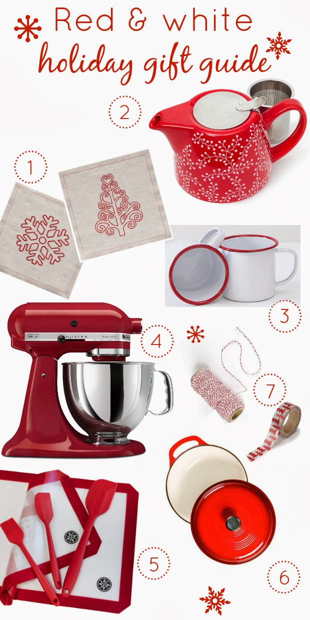 red and white holiday gift guide | kitchen heals soul