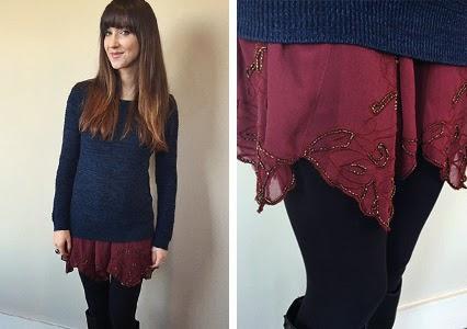 marbled sweater, free people slip dress, slip and sweater outfit, winter outfit, fall outfit, outfit inspiration, winter layering