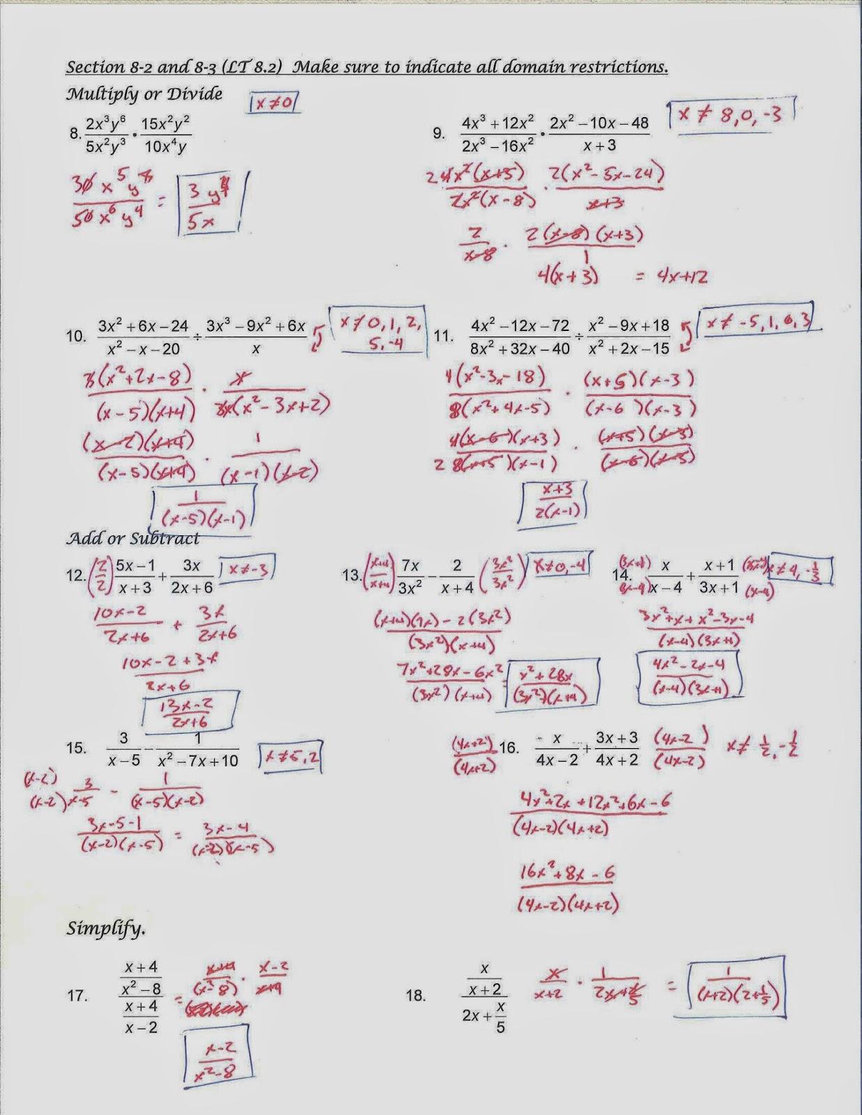 mr  doran u0026 39 s algebra 2  unit 6 exam review materials