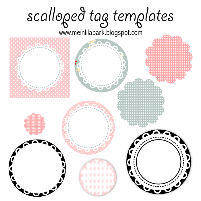 free printable scalloped tag templates muschelrand etiketten freebie meinlilapark. Black Bedroom Furniture Sets. Home Design Ideas