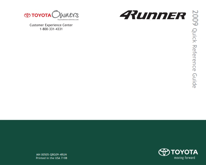 2009 toyota 4runner quick reference guide pdf instructions manual pdf rh carsownersmanual blogspot com 2018 toyota highlander quick reference guide 2018 toyota highlander quick reference guide