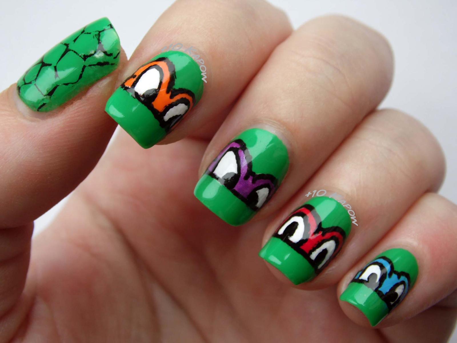 Plus10Kapow: Turtley Awesome: TMNT Nails