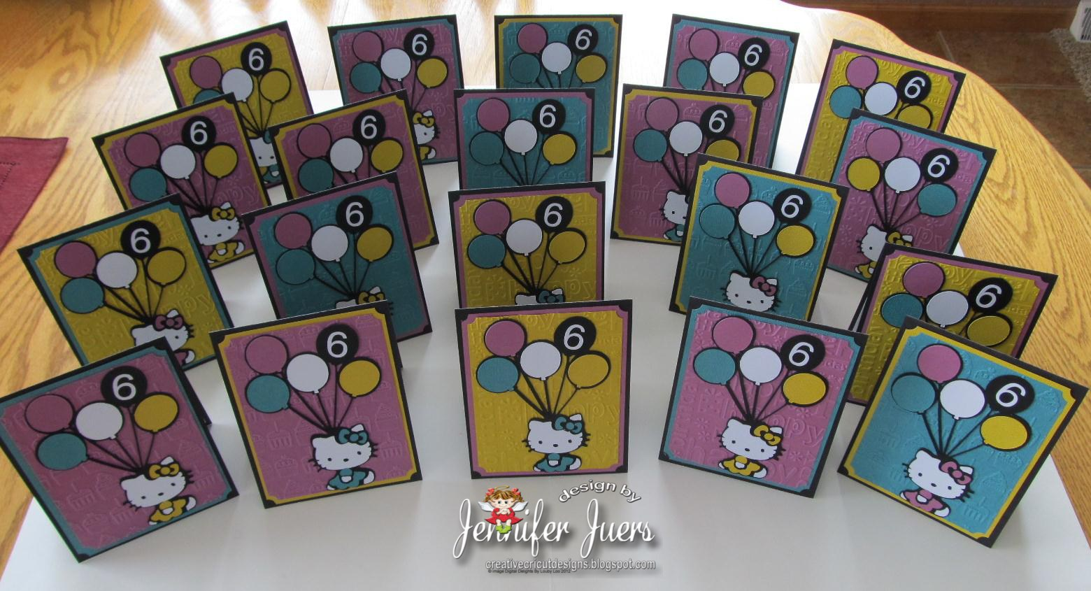 Creative cricut designs more hello kitty birthday inivtations i used the hello kitty greetings and salutations cricut cartridge and cut the images at 5 m4hsunfo