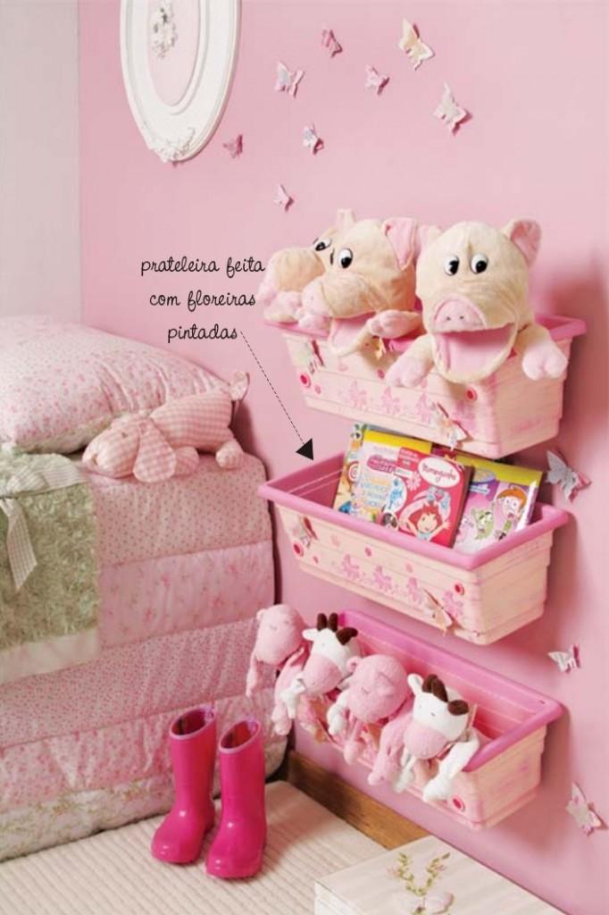 Jeitinho pra decorar quarto de meninas - Cosas para guardar juguetes ...