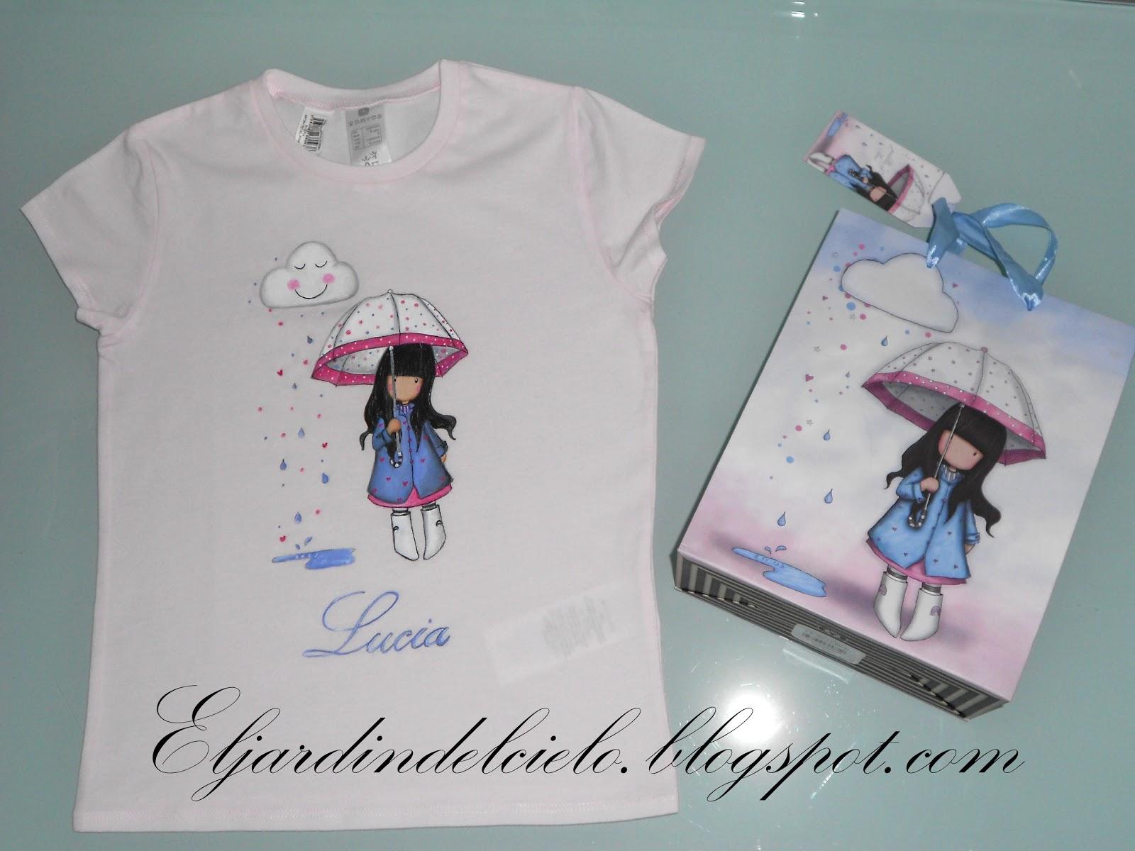 El jard n del cielo camiseta gorjus - Dibujos para pintar camisetas infantiles ...