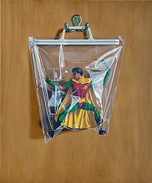 15-Tim Drake-Robin-Simon-Monk-Bagged-Superheroes-in-Painting-www-designstack-co