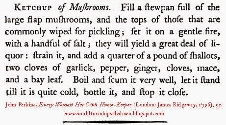 Colonial Recipe Mushroom Ketchup